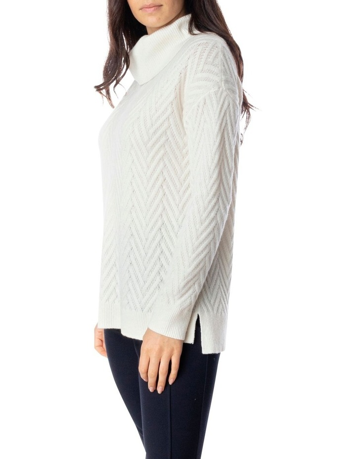 Long Sleeve Shaker Stitch Side Button Pullover image 3