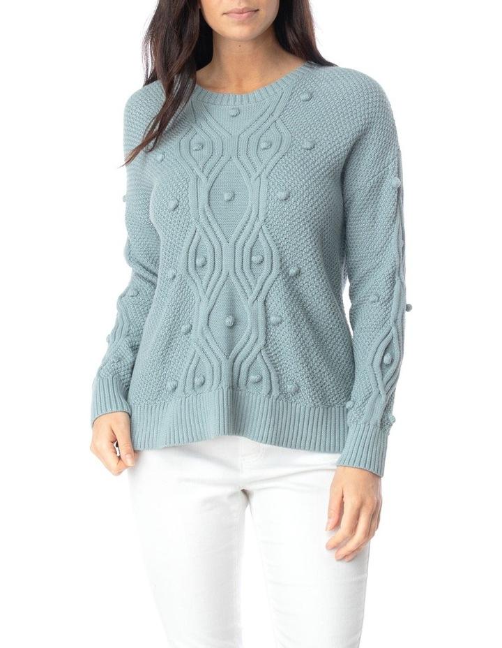 Long Sleeve Organic Bobble Pullover image 1
