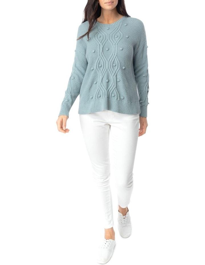 Long Sleeve Organic Bobble Pullover image 2