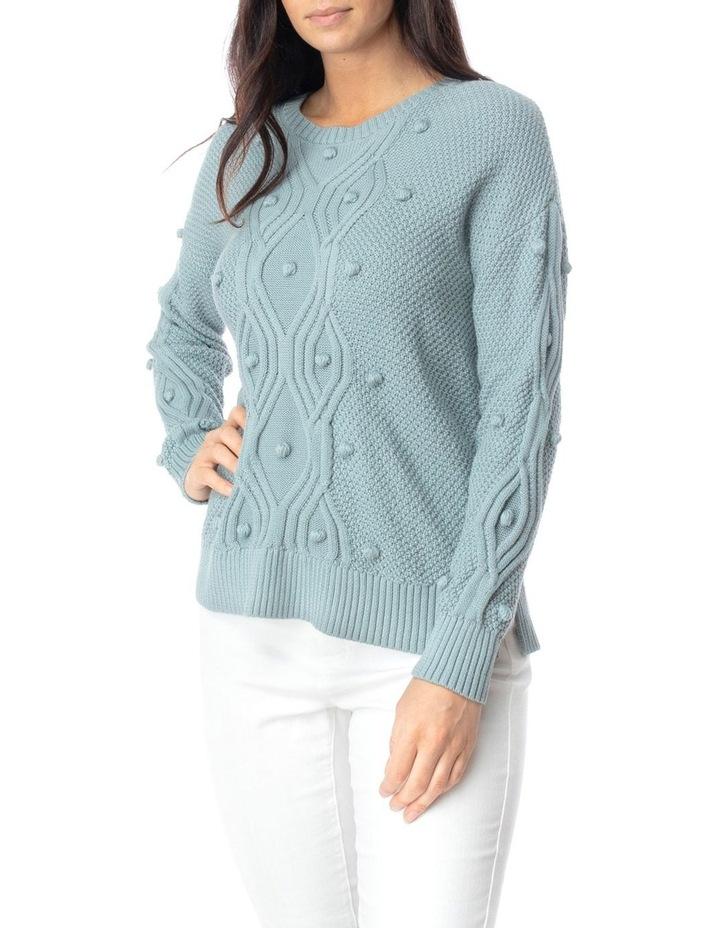 Long Sleeve Organic Bobble Pullover image 3