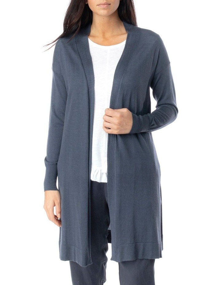 Long Sleeve Longline Merino Wool Cardi image 1