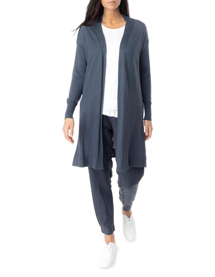 Long Sleeve Longline Merino Wool Cardi image 2