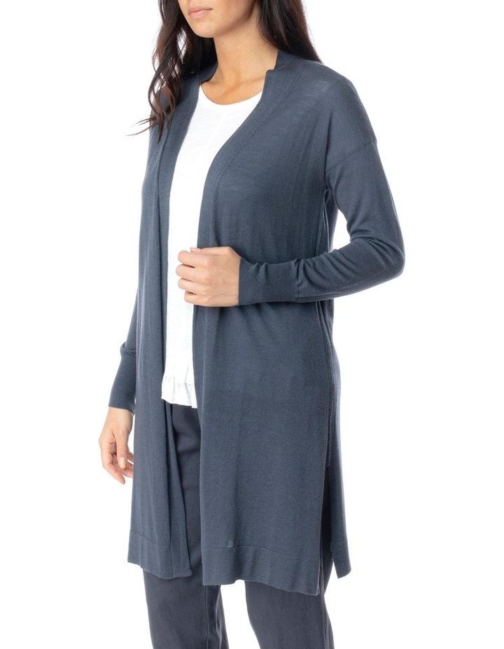 Long Sleeve Longline Merino Wool Cardi image 3