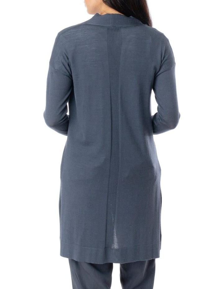 Long Sleeve Longline Merino Wool Cardi image 4
