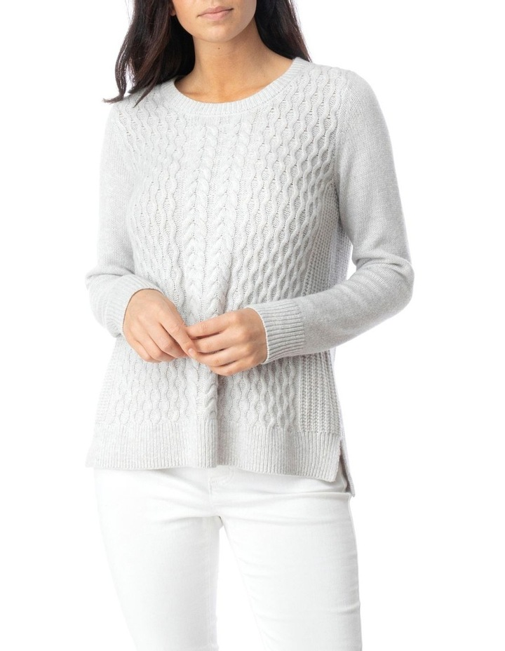 Long Sleeve Texture Front Pullover image 1