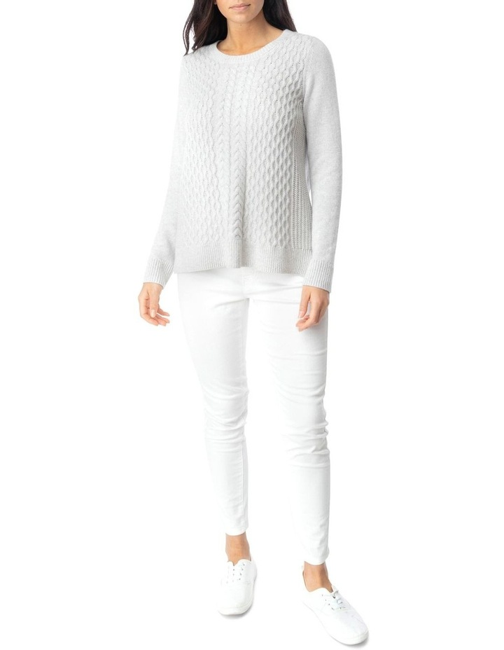 Long Sleeve Texture Front Pullover image 2