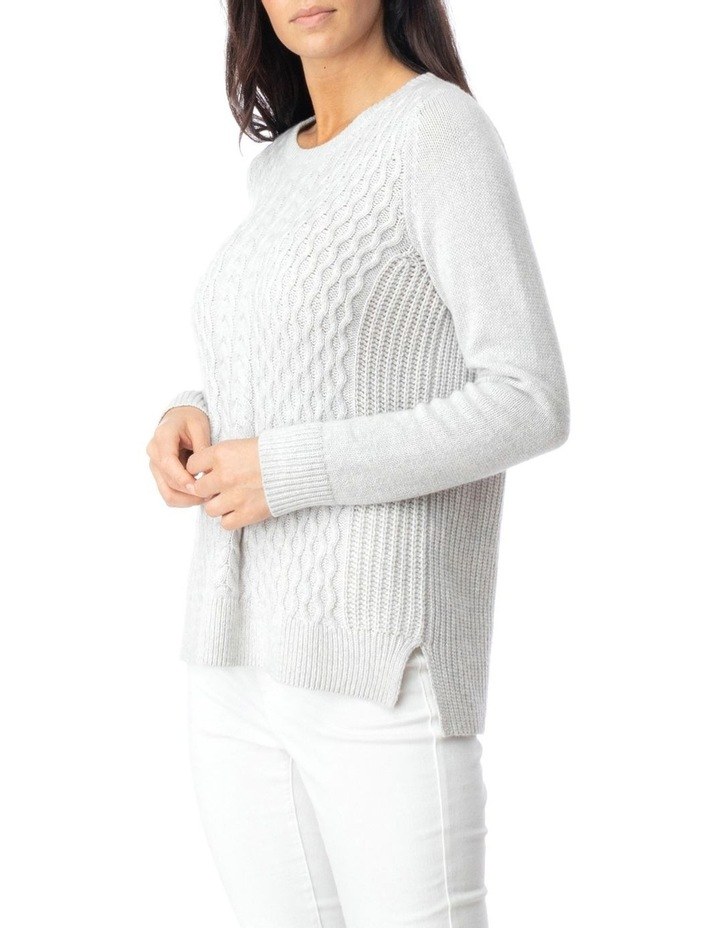 Long Sleeve Texture Front Pullover image 3