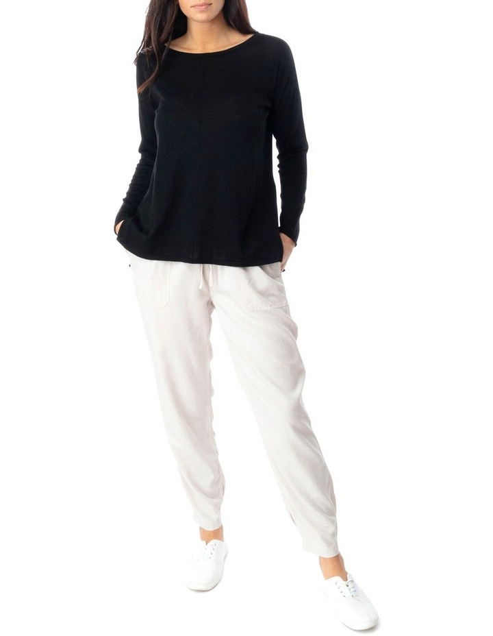 Long Sleeve Seam Detail Pullover image 2