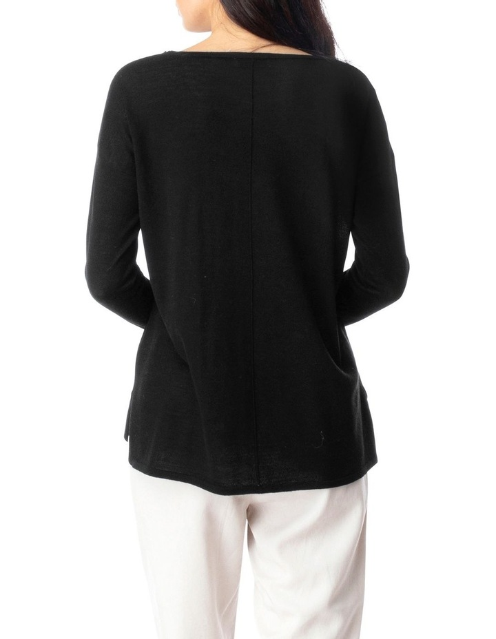 Long Sleeve Seam Detail Pullover image 4