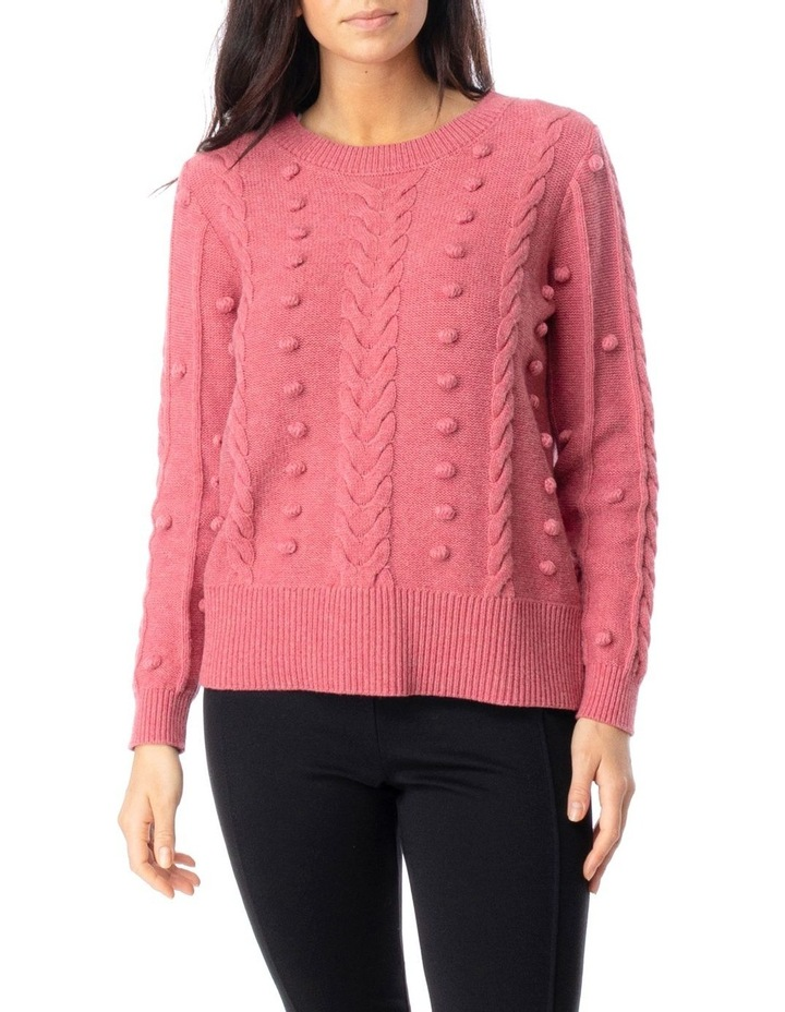 Long Sleeve Cable And Bobble Pullover image 1