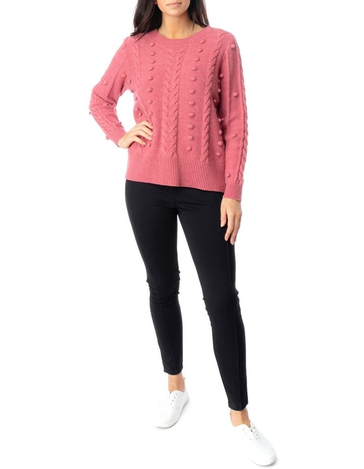 Long Sleeve Cable And Bobble Pullover image 2