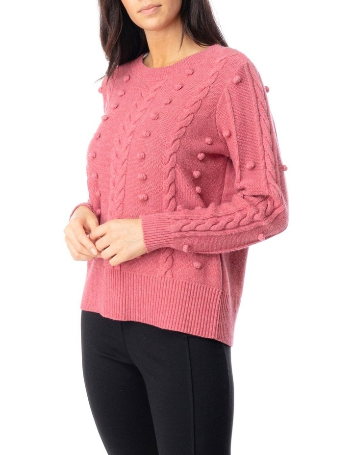 Long Sleeve Cable And Bobble Pullover image 3