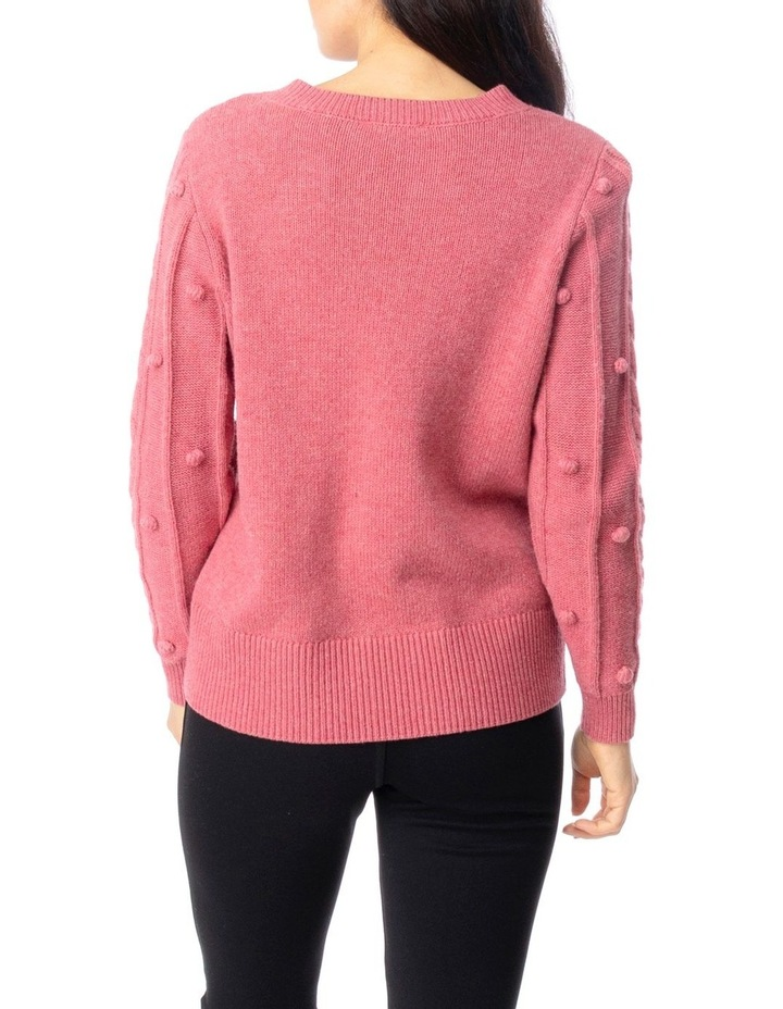 Long Sleeve Cable And Bobble Pullover image 4