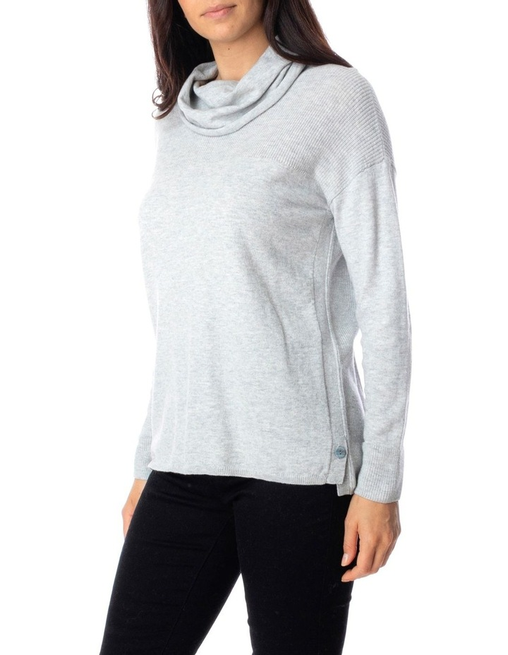 Long Sleeve Fisherman Detail Cowl Pullover image 3