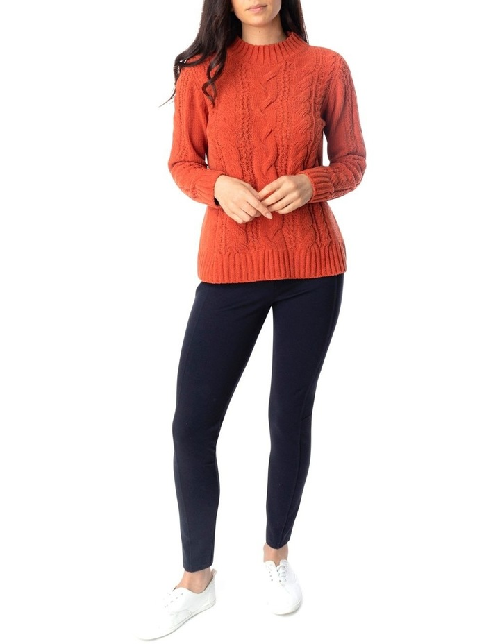 Long Sleeve Chenille Cable Pullover image 2