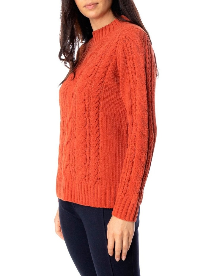 Long Sleeve Chenille Cable Pullover image 3