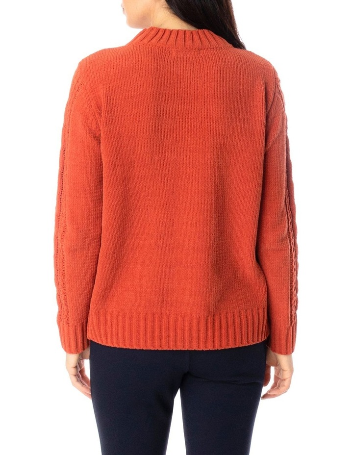Long Sleeve Chenille Cable Pullover image 4