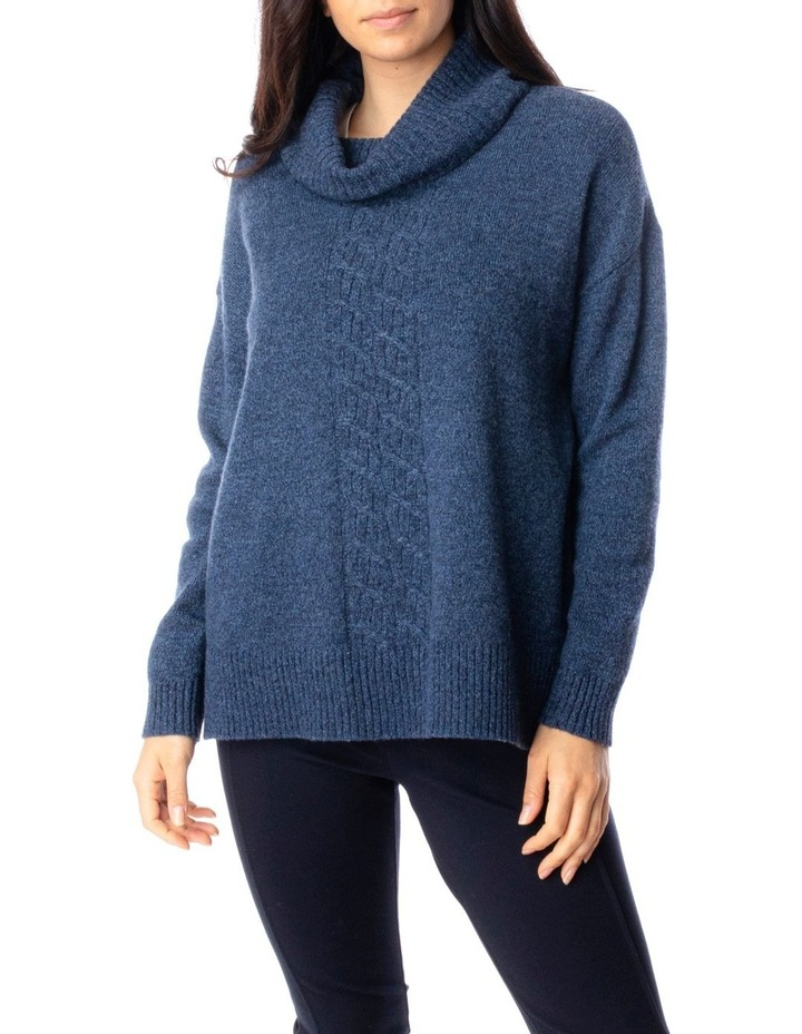 Long Sleeve Roll Neck Cable Pullover image 1