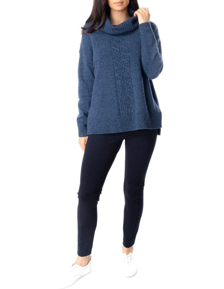 Long Sleeve Roll Neck Cable Pullover image 2