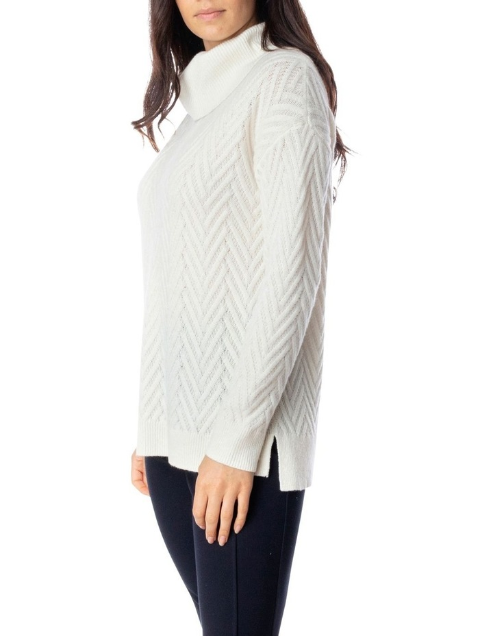 Long Sleeve Zig Zag Stitch Pullover image 3