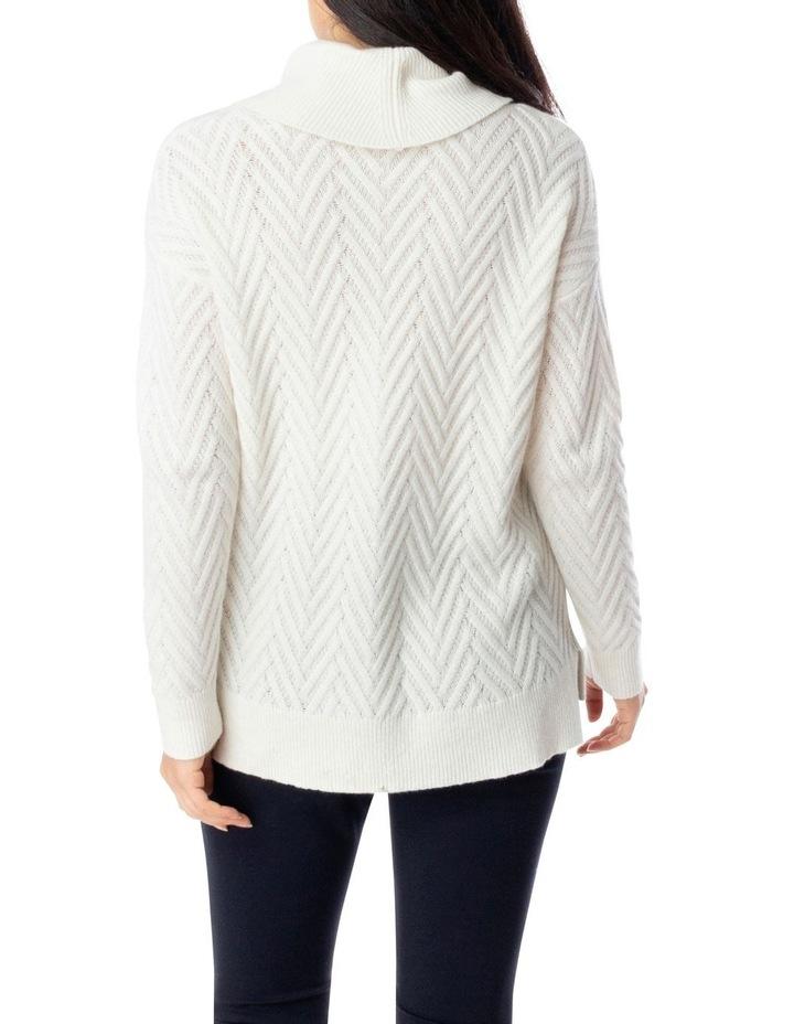 Long Sleeve Zig Zag Stitch Pullover image 4