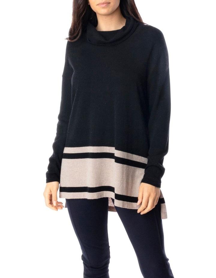 Long Sleeve Block Stripe Pullover image 1