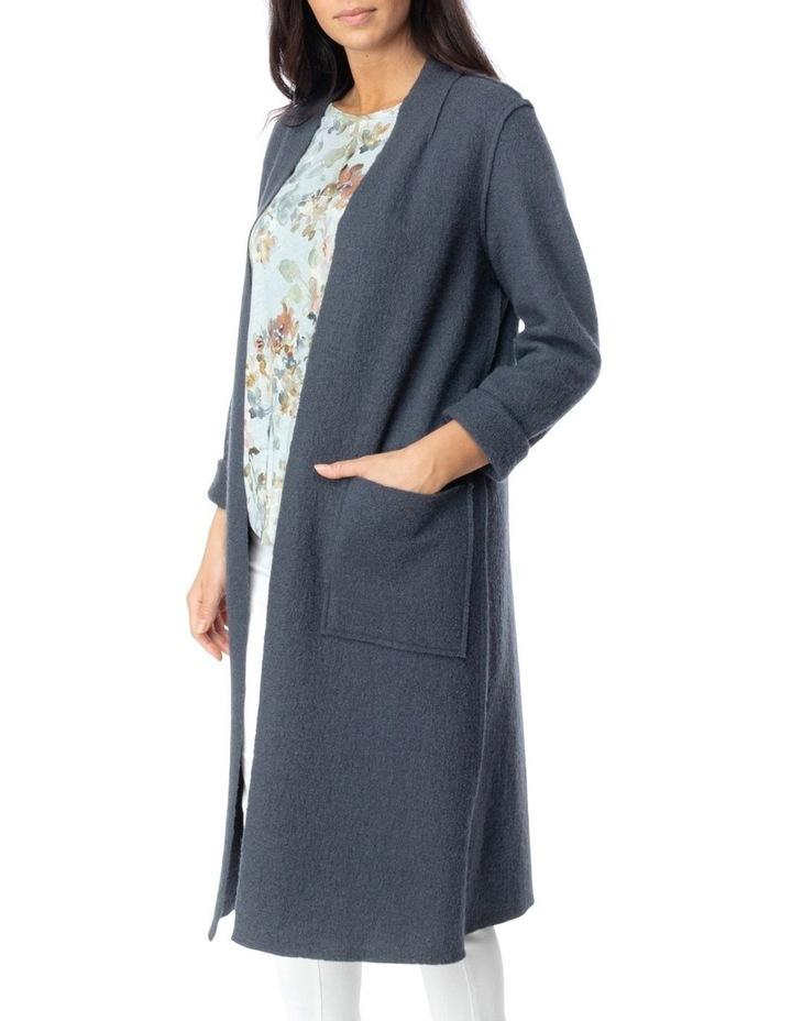 Long Sleeve Boiled Wool Coatigan image 3
