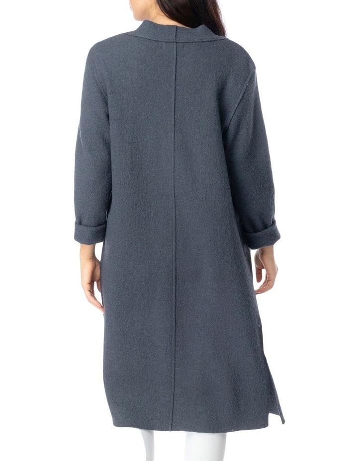 Long Sleeve Boiled Wool Coatigan image 4
