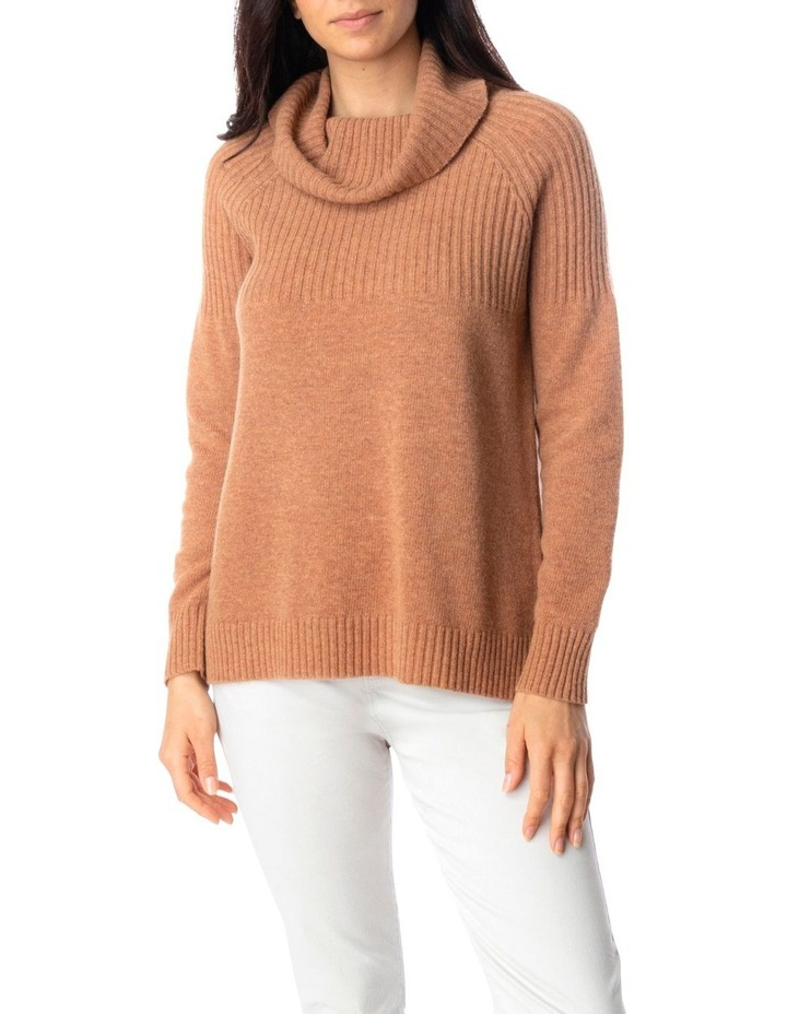 Ribbed Cowl Nk Pullover image 1