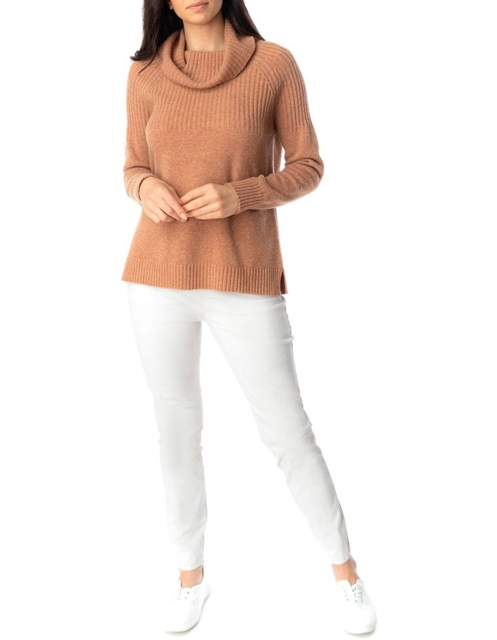 Ribbed Cowl Nk Pullover image 2