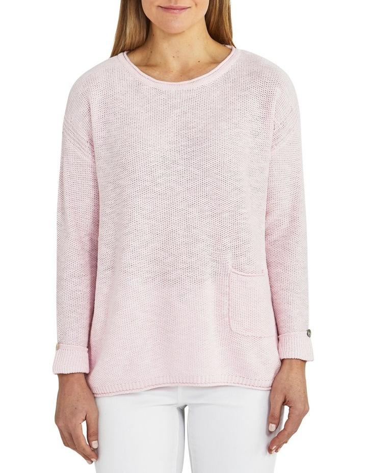 Texture Pocket Pink Knit Jumper image 1