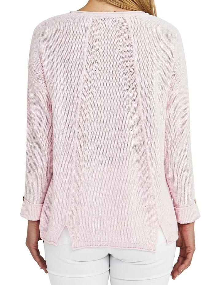 Texture Pocket Pink Knit Jumper image 2