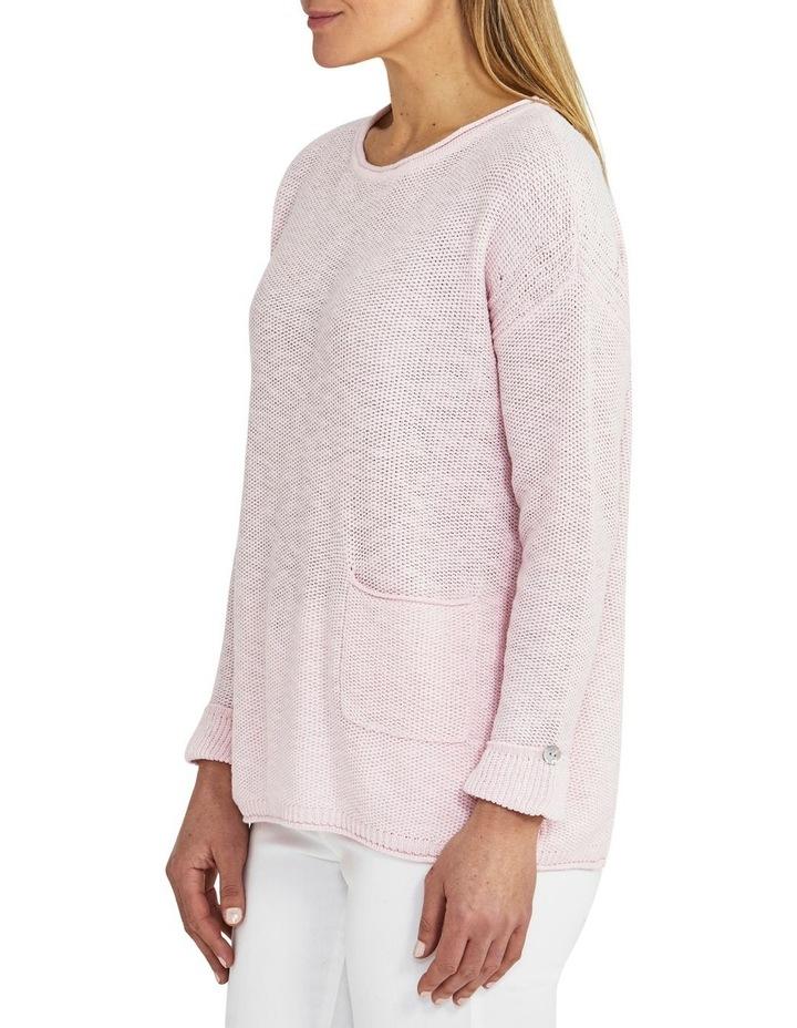 Texture Pocket Pink Knit Jumper image 3