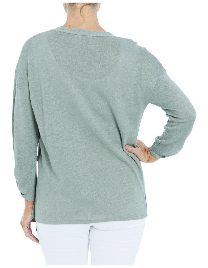Core Linen Cardigan Sage image 2