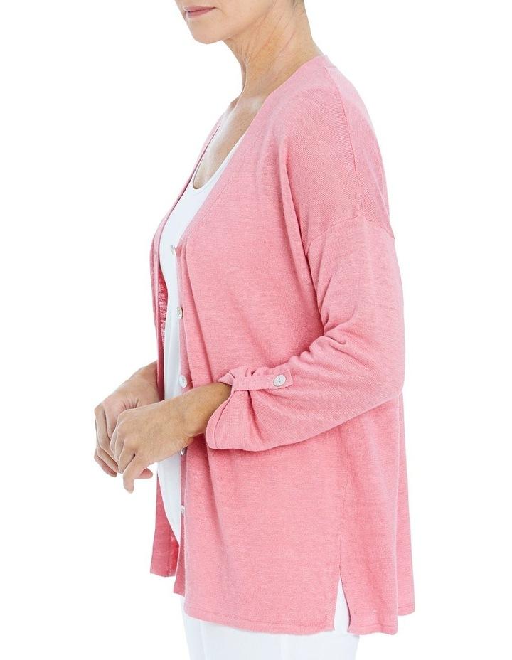 Core Linen Cardigan Blossom image 3