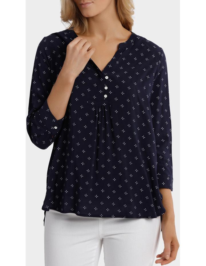 3/4 Sleeve Ditsy Shirt image 1