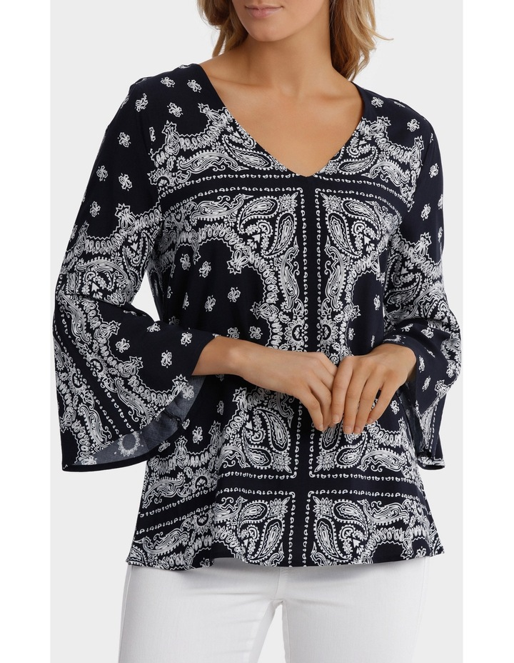 Paisley Bell Sleeve Top image 1