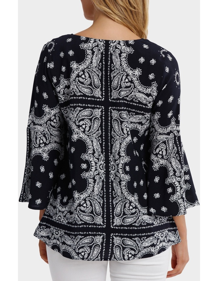 Paisley Bell Sleeve Top image 3