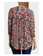 Jump - 3/4 Sleeve Tile Print Top