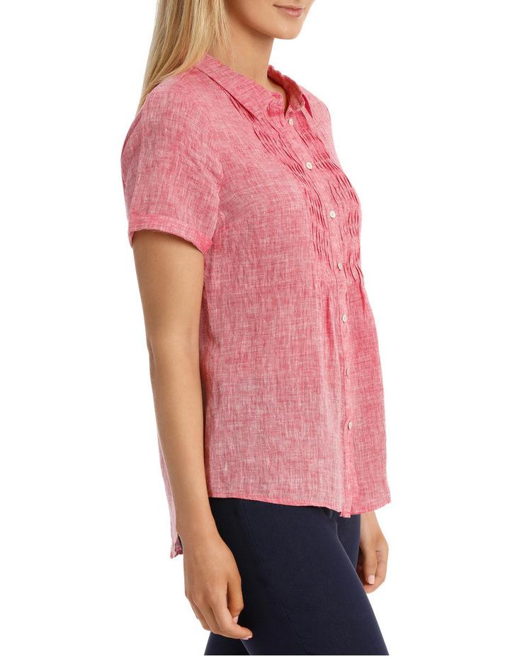 Short Sleeve Pintuck Linen Shirt image 2