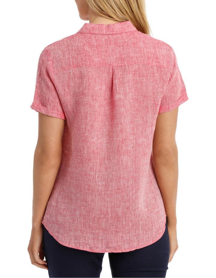 Short Sleeve Pintuck Linen Shirt image 3