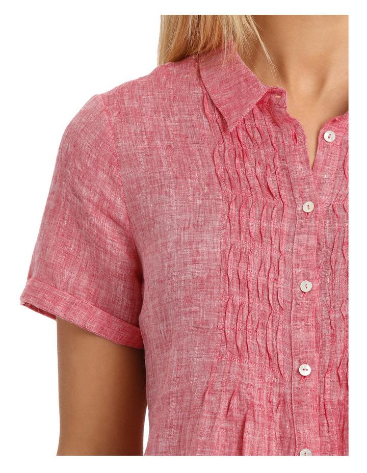 Short Sleeve Pintuck Linen Shirt image 4