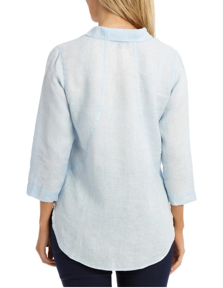 3/4 Sleeve Linen Shirt image 3