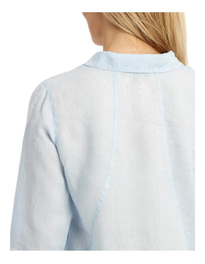 3/4 Sleeve Linen Shirt image 4