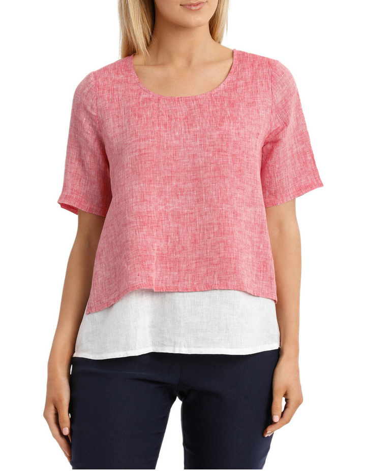 Spliced Double Layer Linen Top image 1