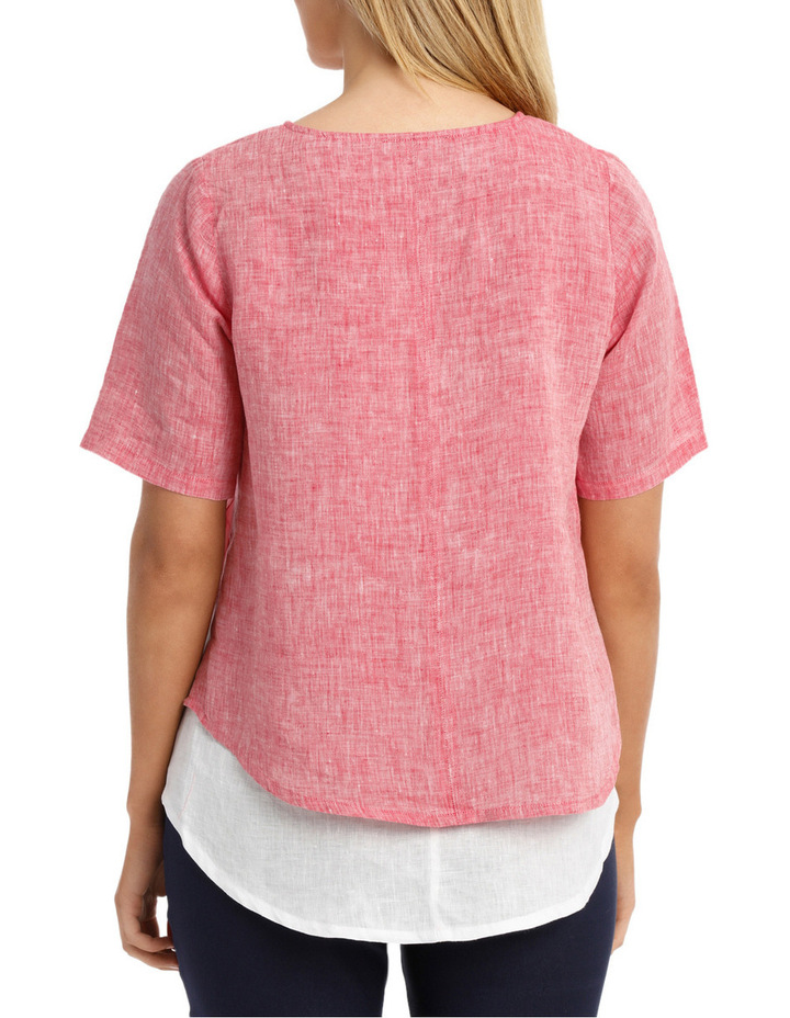 Spliced Double Layer Linen Top image 3