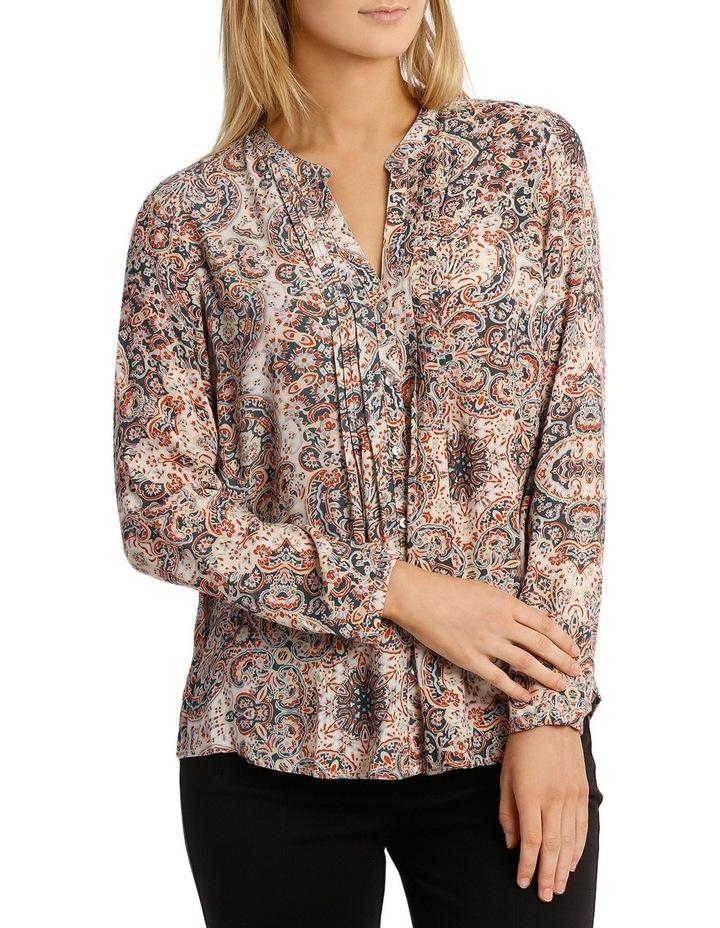 Longsleeve Paisley Pintuck Shirt image 1
