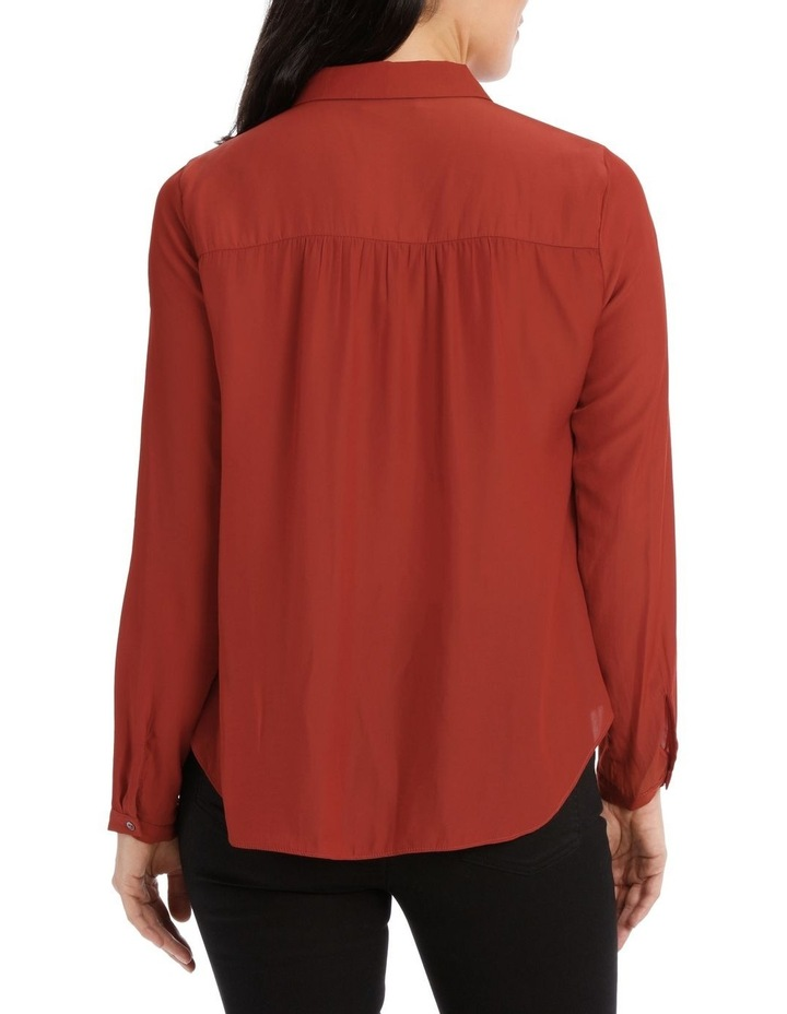 Curved Hem Collared Top image 3