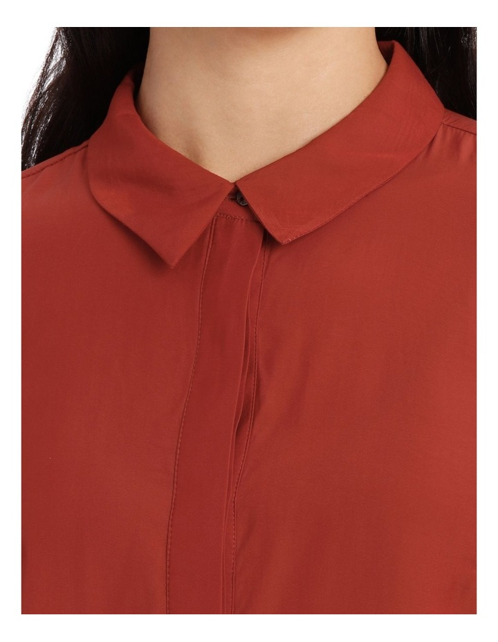 Curved Hem Collared Top image 4
