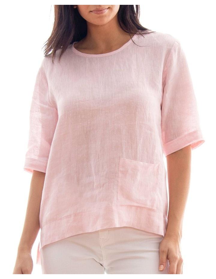 1/2 Sleeve Pocket Linen Top image 1
